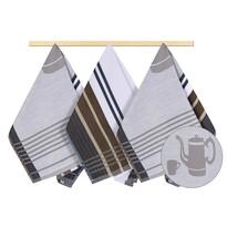 Ścierka kuchenna konewka szary, 50 x 70 cm, zestaw 3 szt.