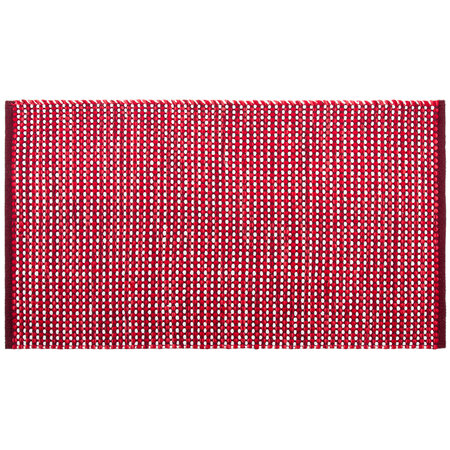 Kusový bavlnený koberec Elsa červená, 60 x 110 cm
