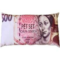 Bankjegy párna 500 cseh korona, 35 x 60 cm