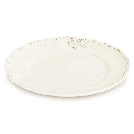 Ceramiczny talerz płytki Serce 25,4 cm