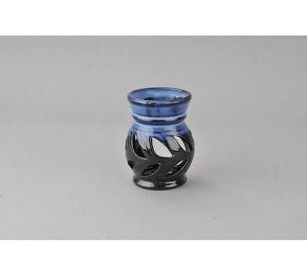Keramická aromalampa, modročerná, modrá