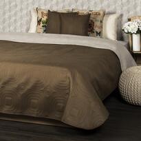 4Home Prehoz na posteľ Doubleface tmavohnedá/sve  tlohnedá, 220 x 240 cm, 2x 40 x 40 cm
