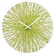 Nástěnné hodiny Silk zelená