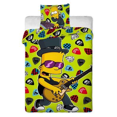 The Simpsons Bart Music gyerek ágyneműhuzat,, 140 x 200 cm, 70 x 90 cm