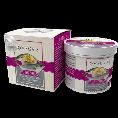 Topvet Bylinný extrakt Omega-3, 60 tobolek