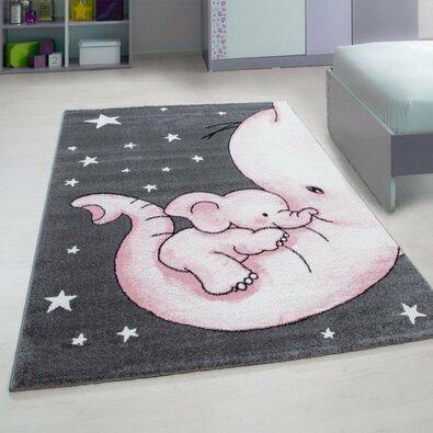 Kusový detský koberec Kids 560 pink, 80 x 150 cm