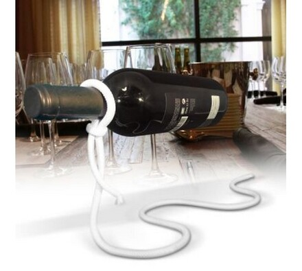 Držák na víno - laso, béžová, 19 x 30 cm