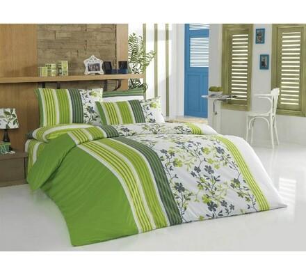 Bavlněné povlečení Lilamor V4, zelená, 140 x 220 cm, 70 x 90 cm