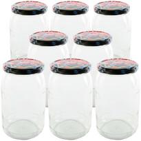 Orion Set borcane cu capac pentru conservare 0,9 l, 8 buc.
