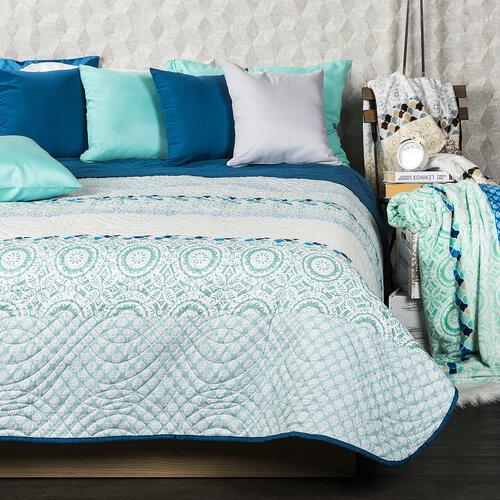 4Home Přehoz na postel Circles tyrkysová , 220 x 240 cm