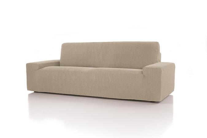 Husă multielastică Cagliari, pentru canapea, ecru, 180 - 220 cm