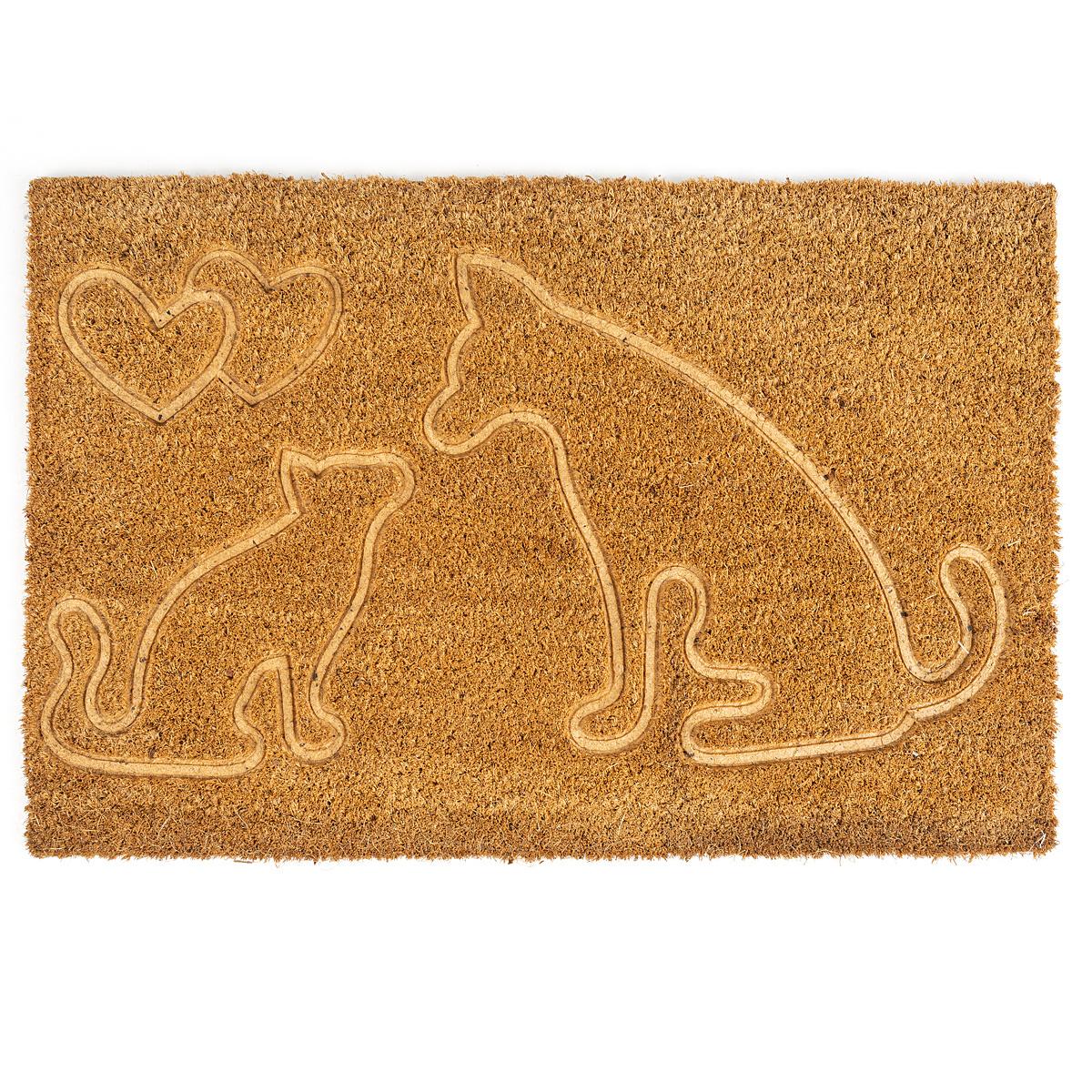Fotografie Trade Concept Kokosová rohožka Kočka a pes, 40 x 60 cm