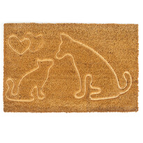 Macska és kutya kókusz lábtörlő, 40 x 60 cm