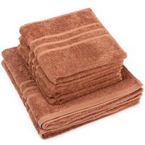 """Zestaw ręczników """"Classic"""" brązowy, 4szt. 50 x 100cm, 2szt. 70 x 140cm"""