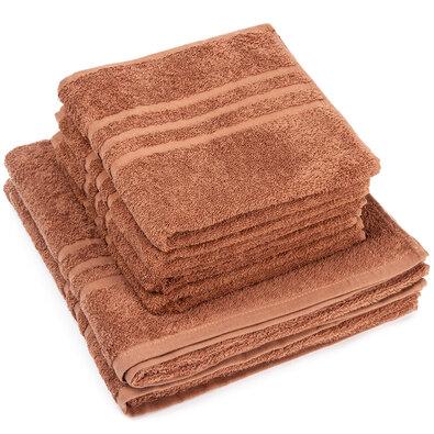 Sada uterákov a osušiek Classic hnedá, 4 ks 50 x 100 cm, 2 ks 70 x 140 cm