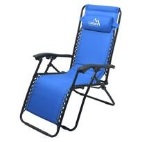 Cattara Fotel kempingowy regulowany Livo rno, niebieski