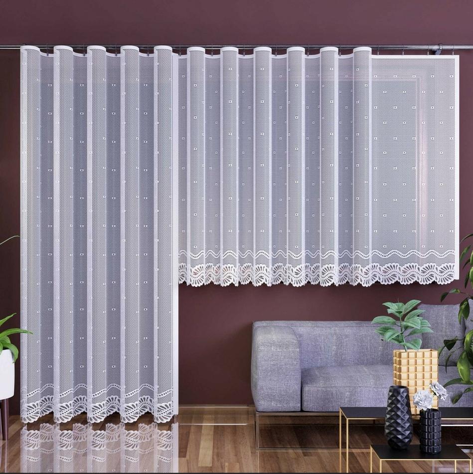 Forbyt Záclona Aurelia bílá, 350 x 160 cm