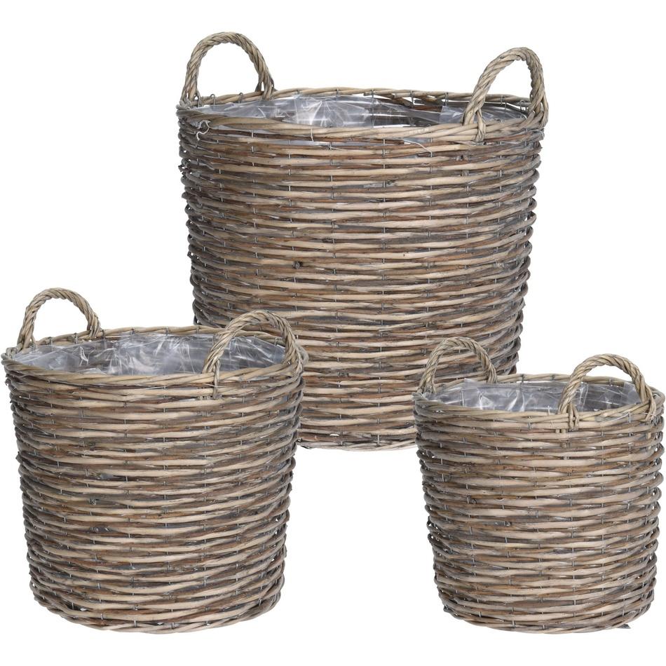 Koopman Sada proutěných košíků Canastilla, 3 ks