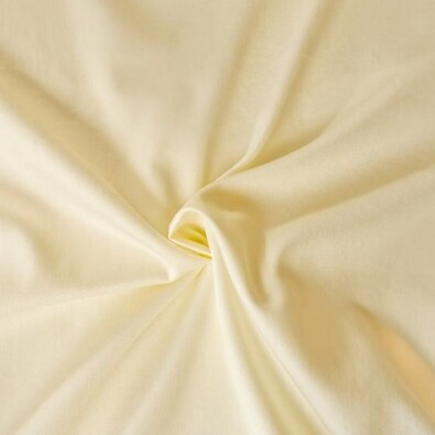 Saténové prostěradlo smetanová, 180 x 200 cm