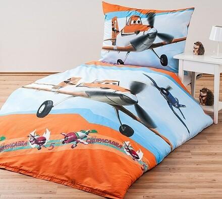 Dětské povlečení Letadla, 140 x 200 cm, 70 x 90 cm, vícebarevná, 140 x 200 cm, 70 x 90 cm