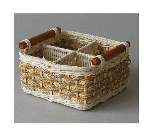 Ratanový košík, oranžová