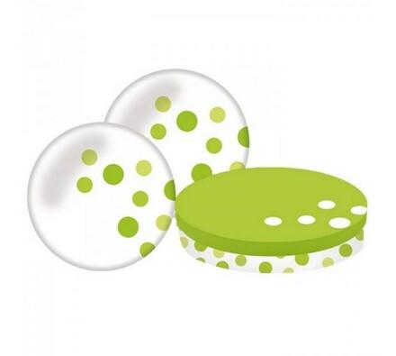 Mělký talíř, 2 ks, zelený, zelená