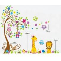 Samolepiaca dekorácia farebný les zvierat