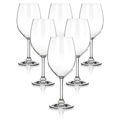 Banquet 6-dielna sada pohárov na červené víno LEONA, 430 ml