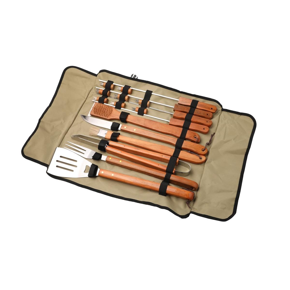HAPPY GREEN Souprava na grilování BBQ, 18 ks, v tašce