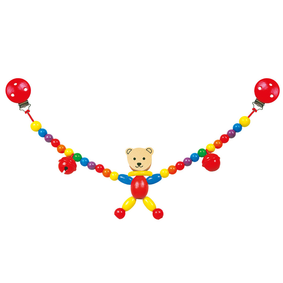 Bino Řetěz do kočárku-medvěd-Cara