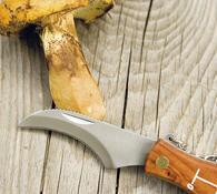 Zavírací nůž na houby se štětečkem hnědá