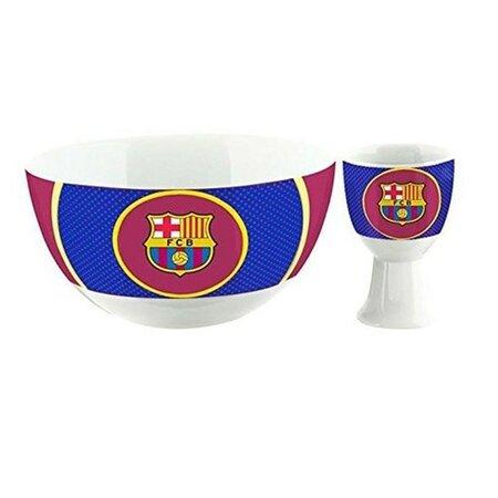 FC Barcelona Snídaňový keramický set, miska a kalíšek na vajíčko