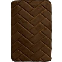 Dywanik łazienkowy z pianką pamięciową Parkiet brązowy, 50 x 80 cm