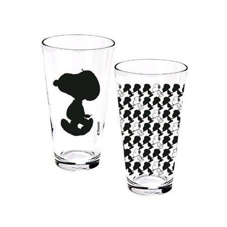 Poháre číre Snoopy 400 ml, 2 ks