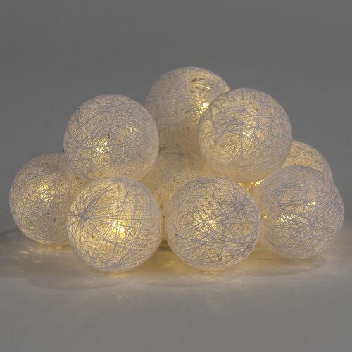 Lampki kulki Raffia, 10 LED