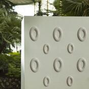 3D tapeta OVAL 24 cm, bílá