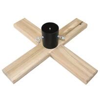 Dřevěný stojan na stromek Woodie světle hnědá, 50 x 50 cm