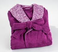 Dámský župan luxury, lila, L / XL