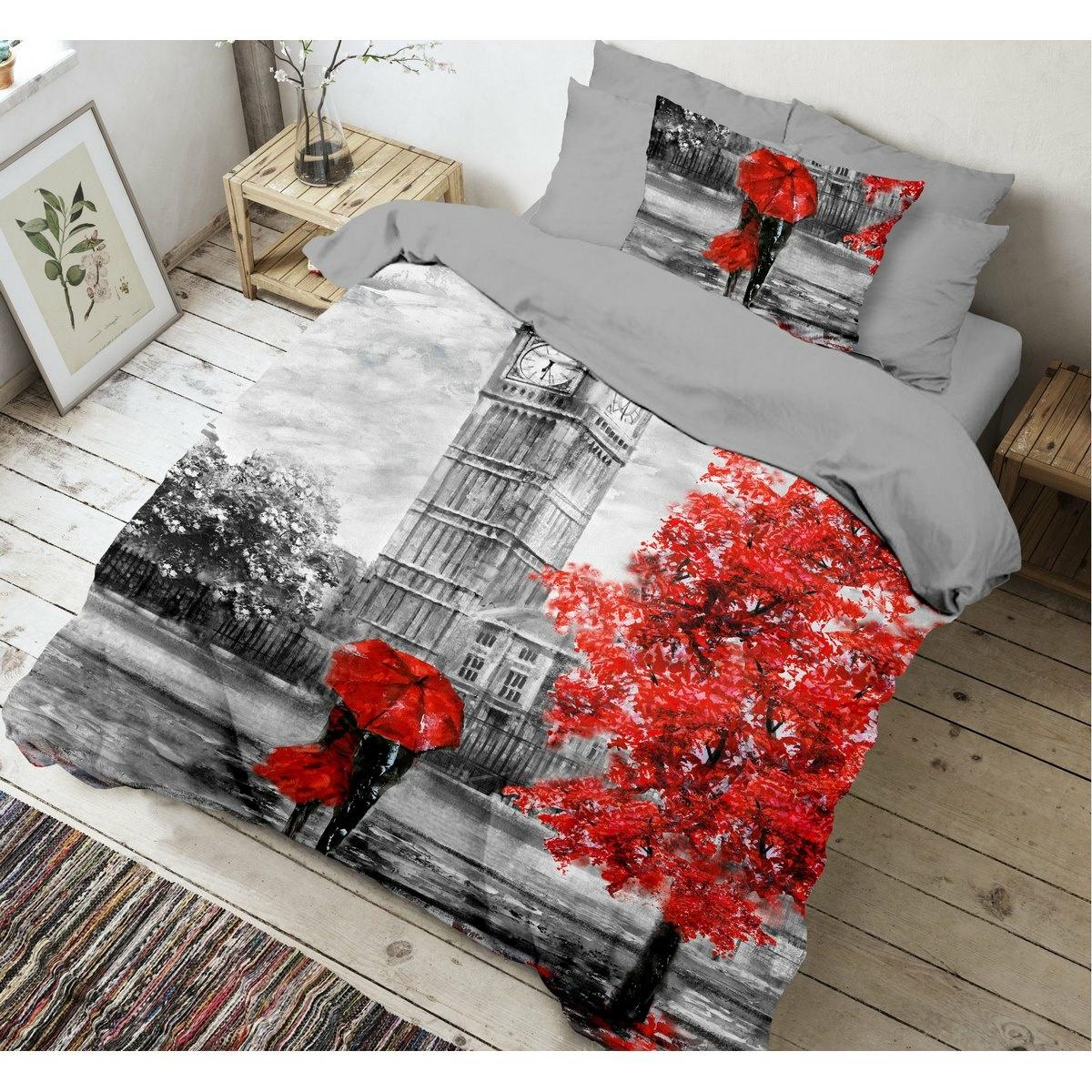 Kvalitex Bavlnené obliečky Umbrella 3D, 140 x 200 cm, 70 x 90 cm