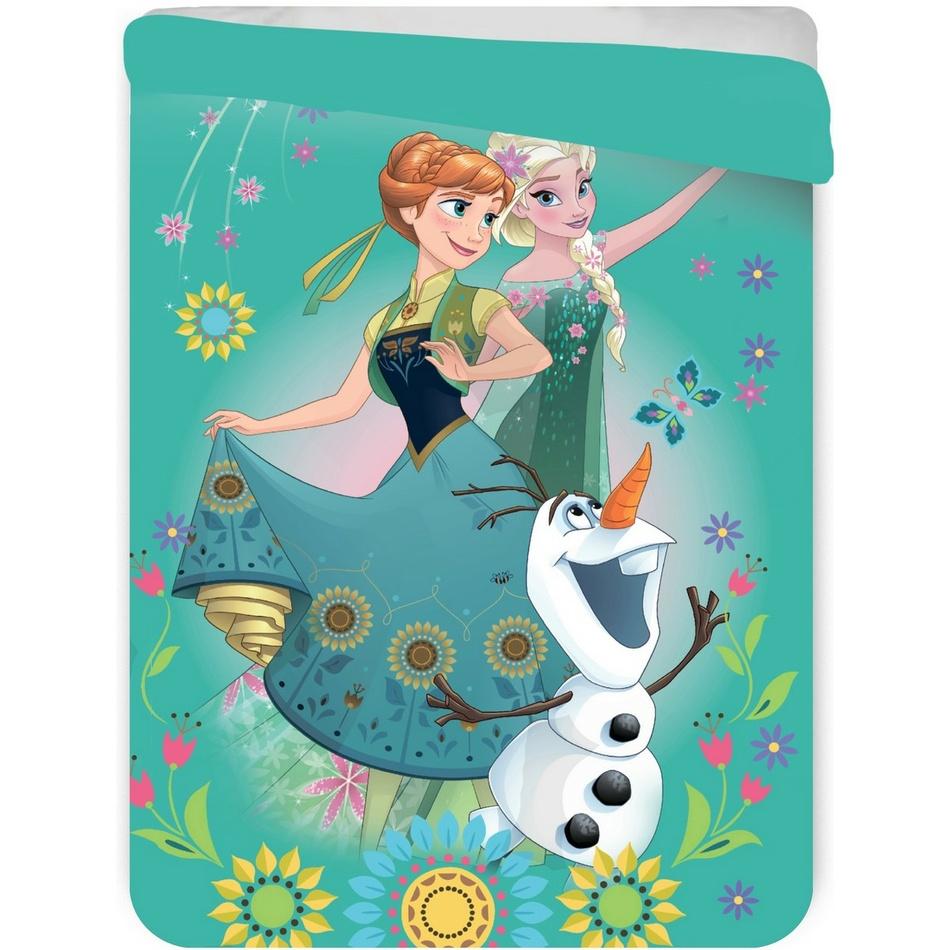 Jerry Fabrics Dětská prošívaná přikrývka Ledové království Frozen, 180 x 260 cm