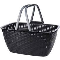 Nákupní košík Ratan, černá