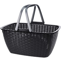 Nákupný košík Ratan, čierna