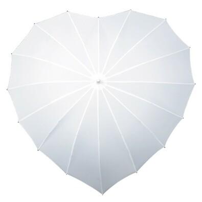 Dámský holový deštník srdce Heart bílá