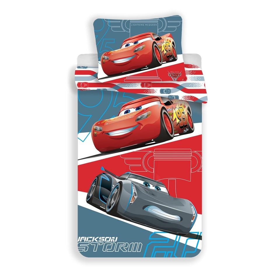 Jerry Fabrics Dětské povlečení Cars 95 grey, 140 x 200, 70 x 90 cm