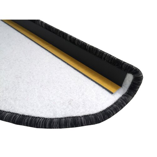 Covoraș pentru scări Apollo soft, gri, 24 x 65 cm