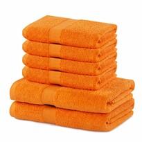 DecoKing Zestaw ręczników Marina pomarańczowy, 4 szt. 50 x 100 cm, 2 szt. 70 x 140 cm