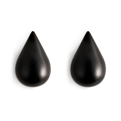 Věšáčky Dropit malé černé, sada 2 ks