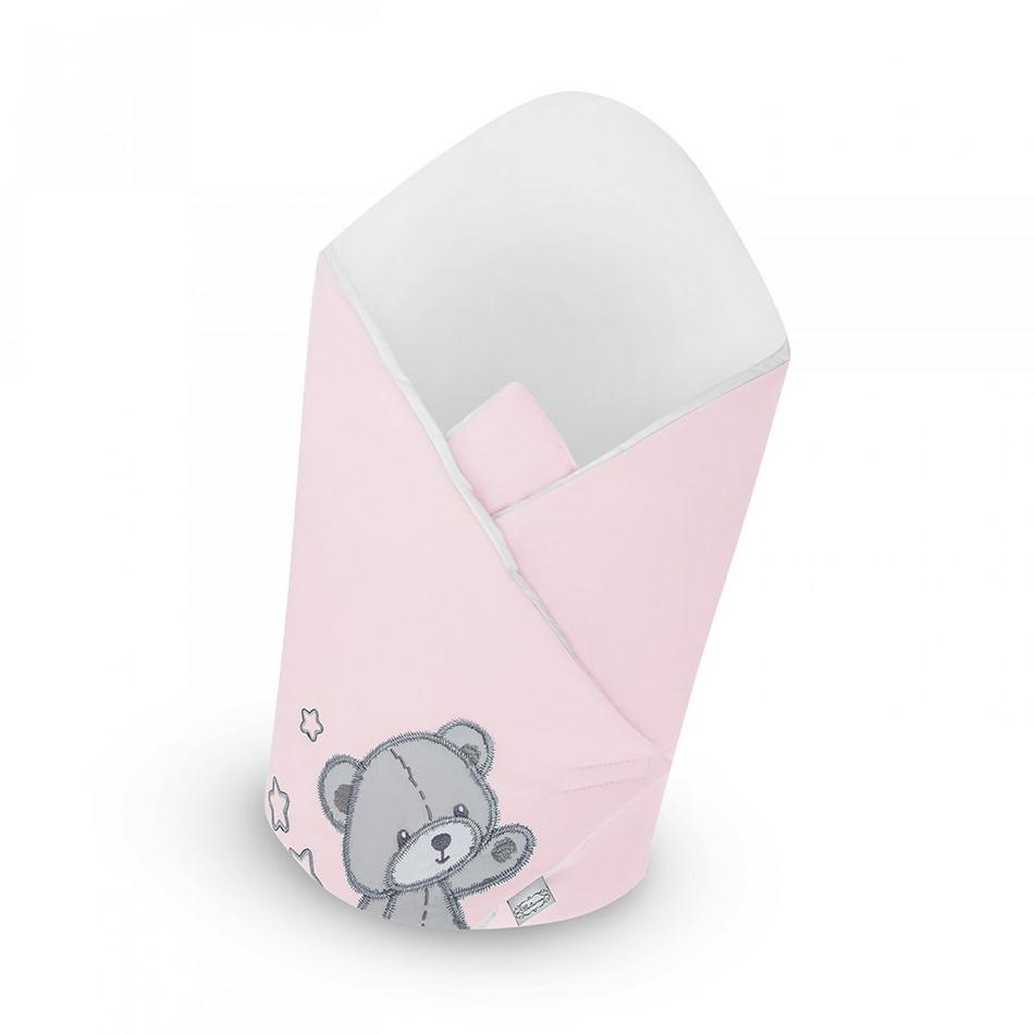 Scutec de copii Belisima, cu întăritură din cocos, Teddy Bear roz, 75 x 75 cm imagine 2021 e4home.ro