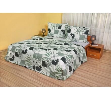 Bavlnené obliečky Gerbery čiernobiele, 220 x 200 cm, 2 ks 70 x 90 cm