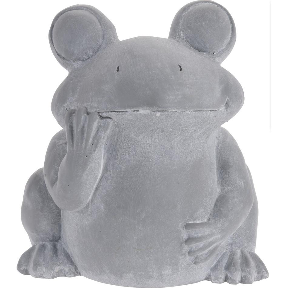 Cementový květináč Žába, 23,5 cm